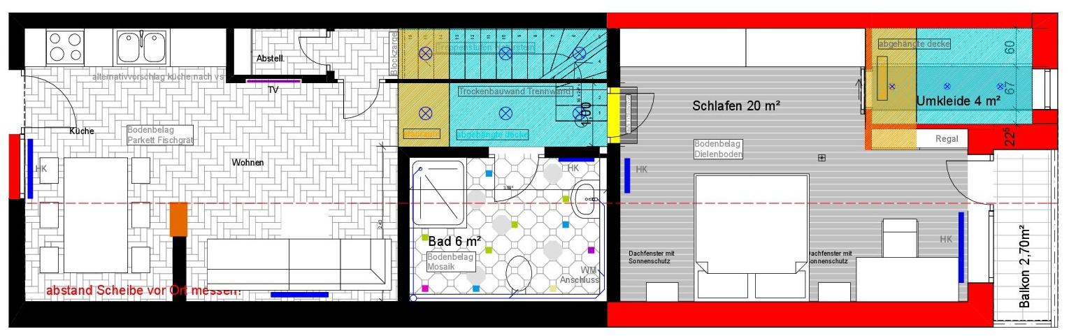 Planung einer Treppe