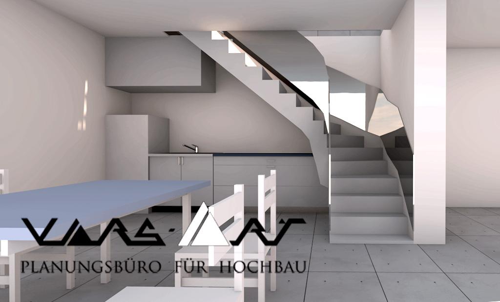 Planung einer Treppe - Architekt Planungsbüro Mannheim