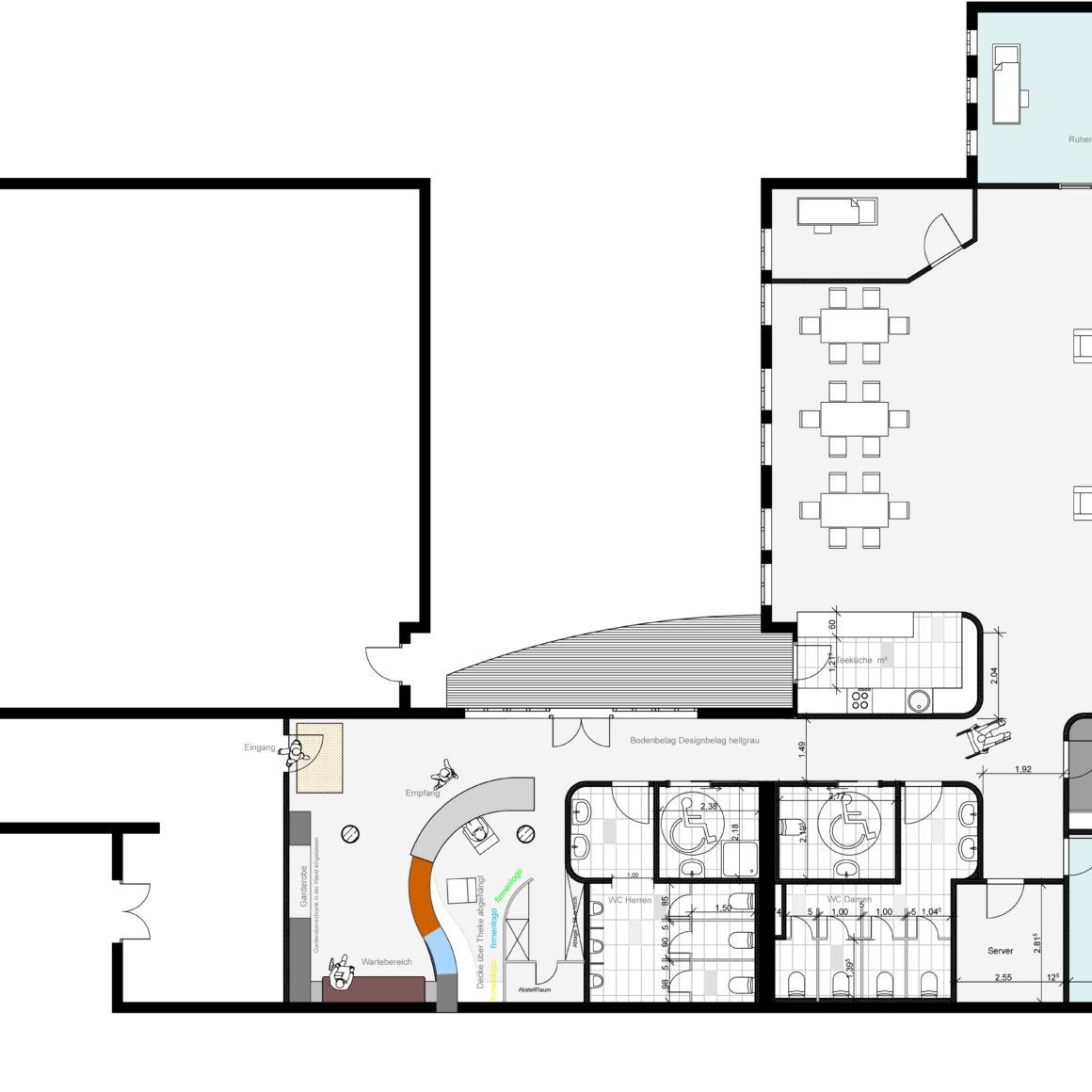 Umgestaltung eines Grundrisses einer Pflegeeinrichtung - Architekt Mannheim