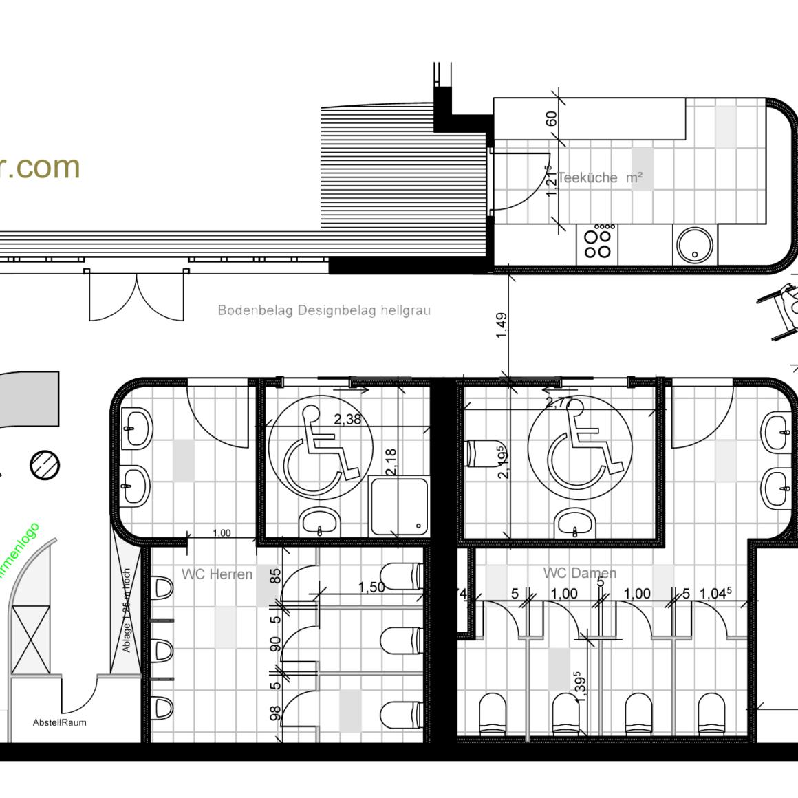 Grundrissplanung einer Pflegeeinrichtung - Umgestaltung eines Grundrisses - Architekt Mannheim